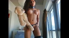 Sexy ebony dont you wish you were the teddybeer