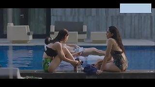 Sobhita Dhulipala Swimsuit softcore and nipple poke