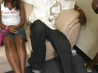 Nasty black anal - Nasty black chick ravaged by hard fuck stick