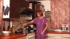 Milf spanked and fucked in kitchen