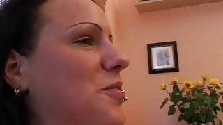 Busty amateur girlfriend hardcore action with cum