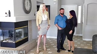 ADULT TIME Couple Gets Into A Threesome With Real Estate Age