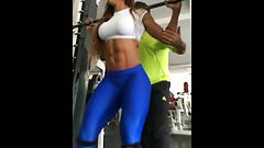 Sexy fit Latinas in leggings