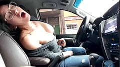 Big boobs and Pussy Car Flash