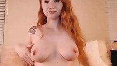 Redhead Babe Sucks Dildo Then Fuck her Pussy