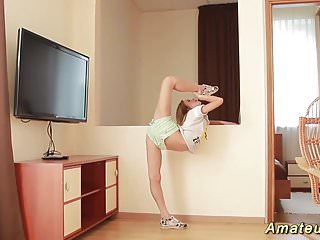 Ebony teen flexible thumbnail gallery - Skinny flexible teen masturbation