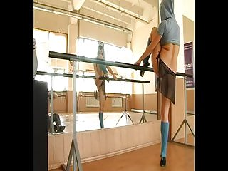Sexy candid gymnastics Sexy girl gymnast in mask