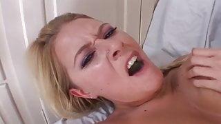 Horny pierced blonde loves a hard dick