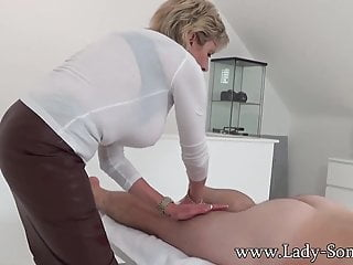 Sonia baghdady breasts Milf lady sonia gives hot handjob on massage table
