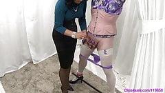MIstress Femdom Sissy Panty Milking Handjob