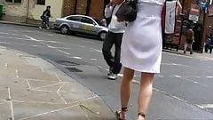 MILF in see through white dress