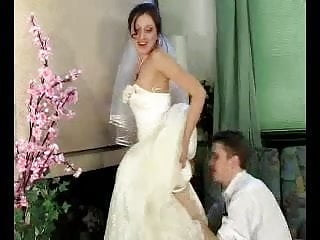 Russian brides in bikini Jaclyn-mike bride under dress
