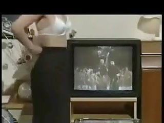 Funny strip Funny strip tease in front of tv