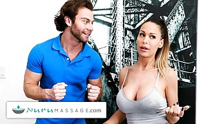 NuruMassage – Famous MILF Takes An Overly Excited Client Hard