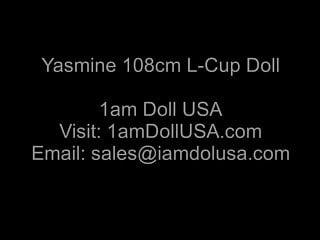 Silcone doll sex video - Play with yasmine 108cm l-cup love doll sex doll, 1am doll