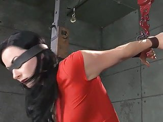 Bdsm suspenssion Bdsm vj tied up blindfold deep throat fuck