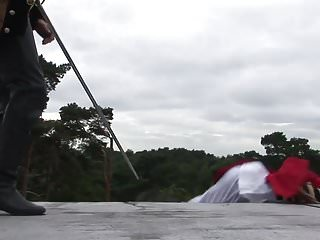 Videos of sex with swords Sword fighting hero gets to fuck sexy savannah outdoors as his prize