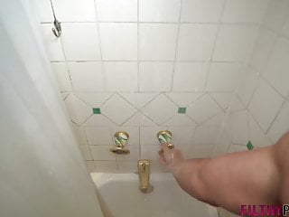 Watch me fucking my sister Catching my sister watching me in the shower fucking her