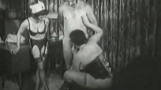 Granny Doctor Healing Old Man's Erection Problems (Vintage)