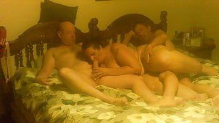 just another 3 some with her bf