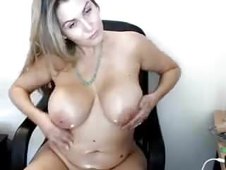 Webcam boob massage - Cute chubby girl rubs her boobs