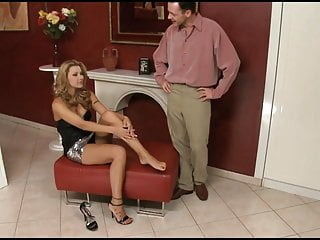 Sotball toe lick - Cindy hope gets her toes licked and her cunt fucked by the fire place