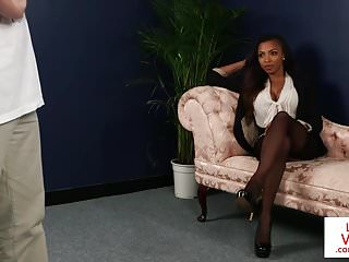 How to have oral sex instructional video - Black cfnm brit instructs sub on how to jerk