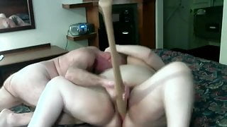 Amateur BBW Mature Gets Fisted Fucked With a Baseball Bat