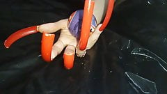 Red extreame long nails Lady L (video short version)