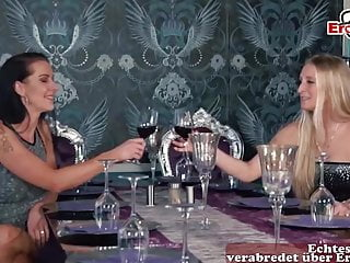 Real female masturbation videos - German anal lesbian with real female orgasm try ass fuck