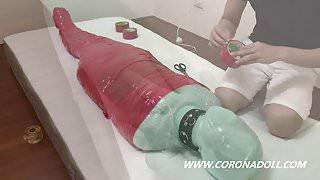 3 Layere Mummification bondage breath paly