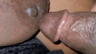 Cum Shot On Saggy Tits