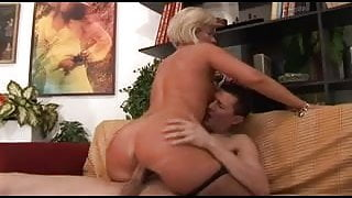 Hot Blonde Italian Mature Fucks Delivery Guy