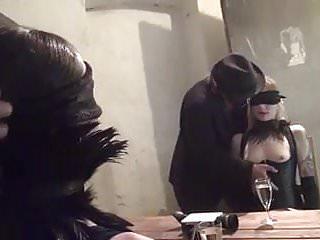 Xxx men free men spanking Submissive girls and two masked men