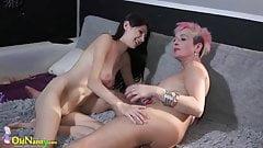 OldNanny Horny lesbian teen fisting granny juicy pussy