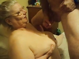Fat mom love cum Fat busty amateur granny loves cum on big tits