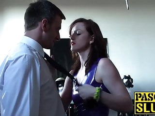 Sex role swapping - Sexy dominatrix vivienne swaps the roles and gets dominated