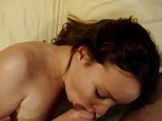 Nude with eye glass Two blowjobs with eye contact and cum on tits