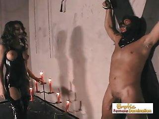 Fun bondage pisones Slave has fun drilling his bossy mistress