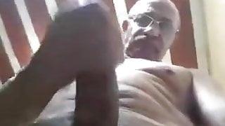 DESI DADDY STROKES HIS SUPER-HUGE COCK