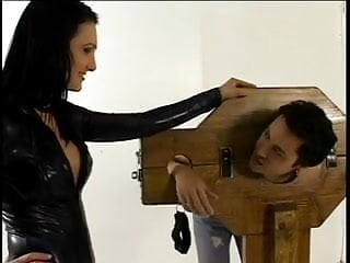 Male sex nullification Mistress fooling around with her male sex toy
