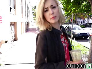 Coed cash sex videos - Blonde teen babe public pickup agrees cash for sex