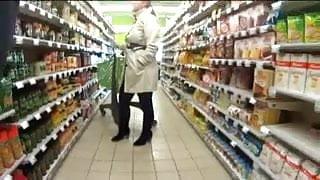 Shopping - naked under my coat