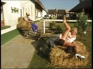 Country whore fucking slutload - 2 country bumpkins fuck this bitch on the hay