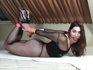 Bondage videos hogtied and gagged They left me hogtied and gagged in nothing but fishnets