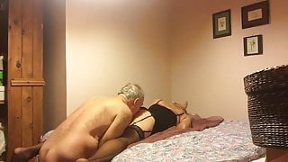 Rimmed and fucked by horny old man