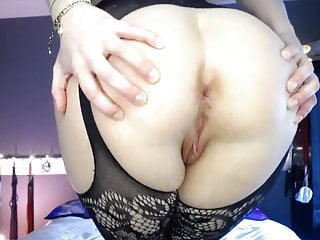 Winking cunt - Close up arse cheeks spread fart winking