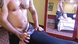 Muscular straight guy fucks me hard
