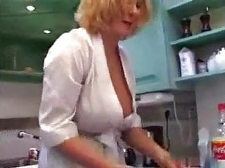 Nude in kitchen - My aunt hot kitchen no nude