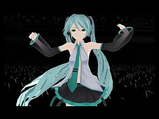 Soccer cartoon strip Mmd miku-time stop-stripped on stage